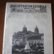 Coleccionismo de Revistas y Periódicos: ILUSTRACION ESPAÑOLA/AMERICANA (15/05/94) AVILA SALAMANCA CONSERVATORIO MADRID BALI OÑATE MILAN . Lote 26348223