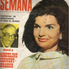 Coleccionismo de Revistas y Periódicos: REVISTA SEMANA / NÚM 1.497 DEL 26 OCTUBRE 1.968 / BODA DE JACQUELINE KENNEDY CON ONASSIS. Lote 26827881