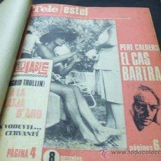 Coleccionismo de Revistas y Periódicos: 20 REVISTAS TELE ESTEL ENCUADERNADAS - EL SETMANARI CATALA D'AVUI - 1967-1968. Lote 27621633