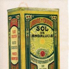 Coleccionismo de Revistas y Periódicos: MALAGA 1933 ACEITE OLIVA SOL DE ANDALUCIA HOJA REVISTA. Lote 22790228