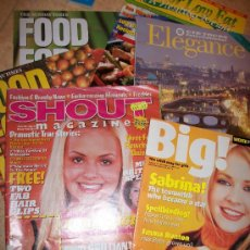 Coleccionismo de Revistas y Periódicos: LOTE 7 REVISTAS EN INGLES - TEMAS VARIADOS - SHOUT , BIG , ELEGANCE, GO FOR LOW FAT , PLANET, FOOD . Lote 26092120