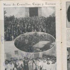 Coleccionismo de Revistas y Periódicos: REVISTA AÑO 1926 COLEGIATA DE GANDIA CENTELLES CASPE TORTOSA FOTOS INTERESANTE. Lote 23147910