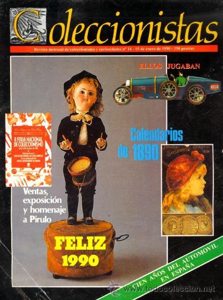 REVISTA COLECCIONISTAS - NÚMERO 15 - REVISTA MENSUAL - AÑO 1990 - COLECCIONISMO (Coleccionismo - Revistas y Periódicos Modernos (a partir de 1.940) - Otros)