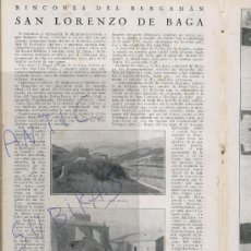 Coleccionismo de Revistas y Periódicos: REVISTA 1929 CIEMPOZUELOS BONREPOS VALENCIA GANDIA SANT LLORENÇ PROP BAGA GUARDIOLA DE BERGUEDA. Lote 23273905
