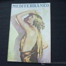 Coleccionismo de Revistas y Periódicos: MEDITERRANEO - Nº 72 - 14 ABRIL 1928 - PORTADA, MARIA CORDA, ARTISTA DE CINE. Lote 23546289