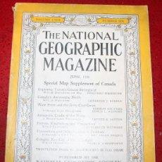 Coleccionismo de Revistas y Periódicos: THE NATIONAL GEOGRAPHIC MAGAZINE - ED. USA - JUNIO 1936 - EN INGLÉS - CANADÁ, LOROS.... Lote 26598077