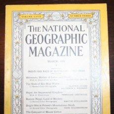 Coleccionismo de Revistas y Periódicos: THE NATIONAL GEOGRAPHIC MAGAZINE - ED. USA - MARZO 1935 - EN INGLÉS - MINNESOTA, NEPAL.... Lote 26575881