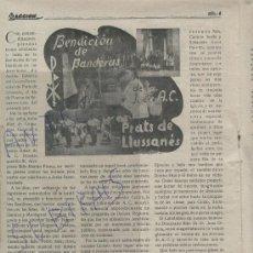 Coleccionismo de Revistas y Periódicos: REVISTA AÑO 1946 BENDICION DE BANDERAS PRATS DE LLUSSANES LLUSANES LLUÇANES TORRES I Y BAGES. Lote 23877485