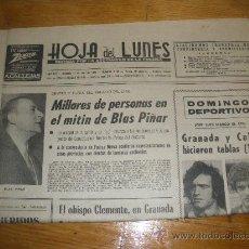 Coleccionismo de Revistas y Periódicos: HOJA DEL LUNES, GRANADA 17 ABRIL 1978. ASOCIACION DE LA PRENSA.. Lote 23931645