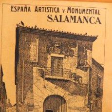 Coleccionismo de Revistas y Periódicos: ANTIGUA REVISTA SOBRE SALAMANCA Nº 25. ESPAÑA ARTISTICA Y MONUMENTAL. (FG00070). Lote 24000130