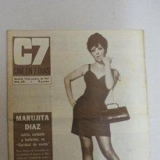 Coleccionismo de Revistas y Periódicos: REVISTAC7, CINE EN 7 DIAS- MARUJITA DIAZ, ACTRIZ, CANTANTE Y BAILARINA, EN CARIDAD DE NOCHE- NUM.345. Lote 24049408