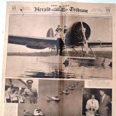 Coleccionismo de Revistas y Periódicos: DIARIO HERALD TRIBUNE, NEW YORK, JULIO 16 DE 1933 - CHARLES LINDBERGH & ADOLF HITLER. Lote 24083212