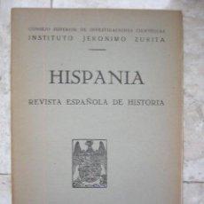 Coleccionismo de Revistas y Periódicos: HISPANIA. REVISTA ESPAÑOLA DE HISTORIA. 1943. Nº XII. CLERECIA DE SALAMANCA, GELMIREZ, BIBLIOGRA. Lote 24470146