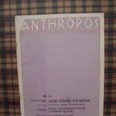 Coleccionismo de Revistas y Periódicos: ANTHROPOS - Nº 49 - 1985 - DOCUMENTACIÓN CIENTÍFICA CULTURA . Lote 24573700