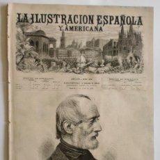 Coleccionismo de Revistas y Periódicos: REVISTA LA ILUSTRACION ESPAÑOLA Y AMERICANA. GRABADOS Y PUBLICIDAD DE LA EPOCA. 1872. Nº XIII. LEER. Lote 26002074