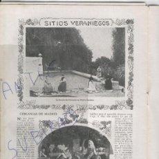 Coleccionismo de Revistas y Periódicos: REVISTA 1911 JATIVA CASTELLBISBAL FUENTE LA ALMUNIA EN NUEVO BAZTAN MONDEJAR CELITA LECUMBERRI TOROS. Lote 24641816