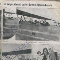 Coleccionismo de Revistas y Periódicos: 1926 VUELO DIRECTO ESPAÑA GUINEA COROSAGASTI BEIZAMA. Lote 24664416