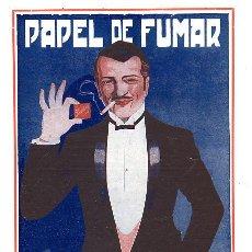 Colecionismo de Revistas e Jornais: SMOKING 1930 PAPEL FUMAR MIQUEL COSTAS Y MIQUEL BARCELONA RETAL HOJA REVISTA. Lote 209010832