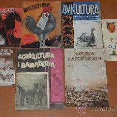 Coleccionismo de Revistas y Periódicos: LOTE DE REVISTAS DE AVICULTURA ANTIGUAS. AÑOS 20S 30S. . Lote 24763399
