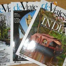 Coleccionismo de Revistas y Periódicos: LOTE DE 3 REVISTAS DEVIAJES, Nº 140, 141 Y 142, DICIEMBRE 2010, ENERO Y FEBRERO DE 2011.. Lote 24904292