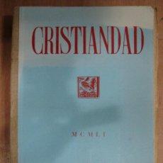 Coleccionismo de Revistas y Periódicos: CRISTIANDAD. MCMLI EDICIONES SARDA Y SALVANY. INDICES GENERALES DEL TOMO VIII 1951.. Lote 25124702