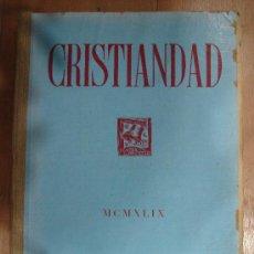 Coleccionismo de Revistas y Periódicos: CRISTIANDAD. MCMXLIX EDICIONES SARDA Y SALVANY. INDICES GENERALES DEL TOMO VI 1949.. Lote 25124761
