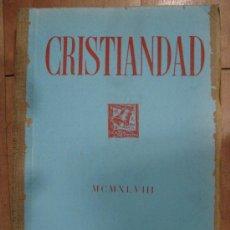 Coleccionismo de Revistas y Periódicos: CRISTIANDAD. MCMXLVIII EDICIONES SARDA Y SALVANY. INDICES GENERALES DEL TOMO V 1948.. Lote 25124780