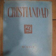 Coleccionismo de Revistas y Periódicos: CRISTIANDAD. MCMXLV EDICIONES SARDA Y SALVANY. INDICES GENERALES DEL TOMO II 1945.. Lote 25124789