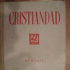 Coleccionismo de Revistas y Periódicos: CRISTIANDAD. MCMXLIV EDICIONES SARDA Y SALVANY. INDICES GENERALES DEL TOMO I 1944.. Lote 25124804