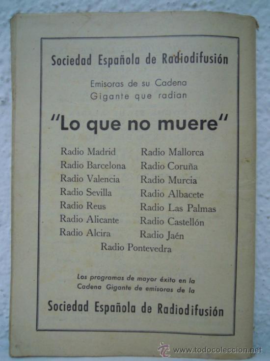 Coleccionismo de Revistas y Periódicos: LO QUE NO MUERE, NOVELA RADIOFONICA: VICENTE MULLOR - Foto 3 - 25362208