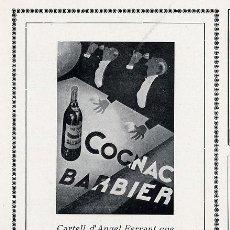 Coleccionismo de Revistas y Periódicos: COÑAC BARBIER 1927 ILUSTRACION ANGEL FERRANT RETAL HOJA REVISTA. Lote 25359029