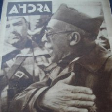 Coleccionismo de Revistas y Periódicos: AHORA - REVISTA ILUSTRADA Nº 1.837, 10 NOV.1936 - GUERRA CIVIL - LA GUERRA A LAS PUERTAS DE MADRID. Lote 25387009