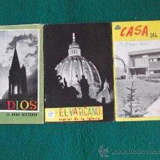 Coleccionismo de Revistas y Periódicos: FOLLETOS P.P.C. (PROPAGANDA POPULAR CATOLICA)Nº109-122-124-20 PAGINAS-16X11CM-AÑO 1959-. Lote 26161346
