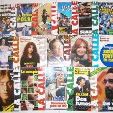 Coleccionismo de Revistas y Periódicos: LOTE DE 28 REVISTAS DE LA CALLE, DIRIGIDA POR CÉSAR ALONSO DE LOS RÍOS DE LOS AÑOS 1980 Y 1981. Lote 27170581