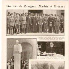 Coleccionismo de Revistas y Periódicos: RECORTE PRENSA.AÑO 1931.MADRID.MONUMENTO A RAMON Y CAJAL.GRANADA.ATARFE.ENTIERRO VICTIMAS ATARFE.. Lote 25537182