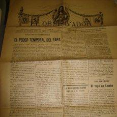 Coleccionismo de Revistas y Periódicos: PERIODICO EL OBSERVADOR. NOVIEMBRE DE 1917. Lote 25575770