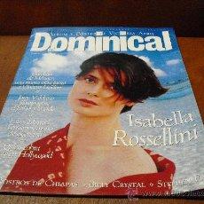 Coleccionismo de Revistas y Periódicos: REV. DOMINICAL 5/1994.- ISABELLA ROSSELLINI -REPTJE,DE CINE,CAROLINA MONACO, VICTORIA ABRIL. Lote 25592312