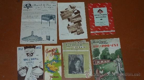 LOTE DE PAPELES AVICOLAS: CATALOGOS, REVISTAS... AVICOLA. AVICULTURA. TODO DE AÑOS 30S 40S 50S. (Coleccionismo - Revistas y Periódicos Antiguos (hasta 1.939))