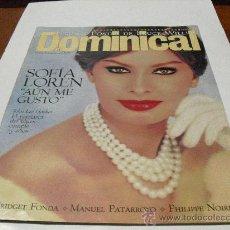 Coleccionismo de Revistas y Periódicos: REV.DOMINICAL 2/1995.- SOFIA LOREN, RPTJE BRIDGET FONDA, M. PATARROYO, P. NOIRET. Lote 25702613