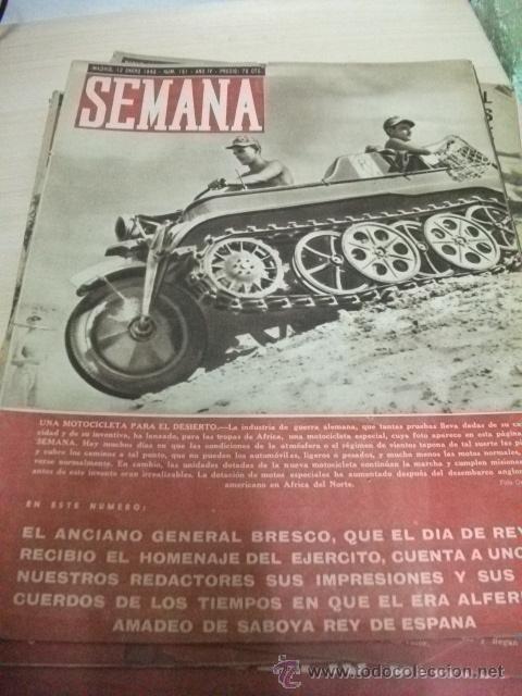 REVISTA SEMANA. 1943 Nº 151 .2ª GUERRA MUNDIAL. LA GUERRA EN AFRICA (Coleccionismo - Revistas y Periódicos Modernos (a partir de 1.940) - Otros)