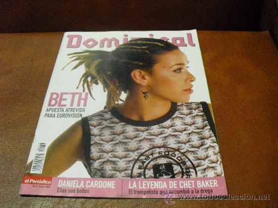 REV. DOMINICAL 5/2003.-BETH EXTENSO RPTJE.- DANIELA CARDONE, CHET BAKER, AITOR GONZALEZ (Coleccionismo - Revistas y Periódicos Modernos (a partir de 1.940) - Otros)