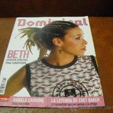 Coleccionismo de Revistas y Periódicos: REV. DOMINICAL 5/2003.-BETH EXTENSO RPTJE.- DANIELA CARDONE, CHET BAKER, AITOR GONZALEZ. Lote 25949894