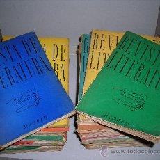 Coleccionismo de Revistas y Periódicos: (M) REVISTA DE LITERATURA 1952 - 1958 , DEL NUMERO 1 AL 28 - MADRID , INSTITUTO MIGUEL DE CERVANTES. Lote 27329278
