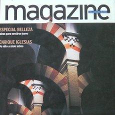 Coleccionismo de Revistas y Periódicos: MAGAZINE, REVISTA NOVIEMBRE 2001 AL ANDALUS-ENRIQUE IGLESIAS DE NIÑO A IDOLO LATINO. Lote 27603448
