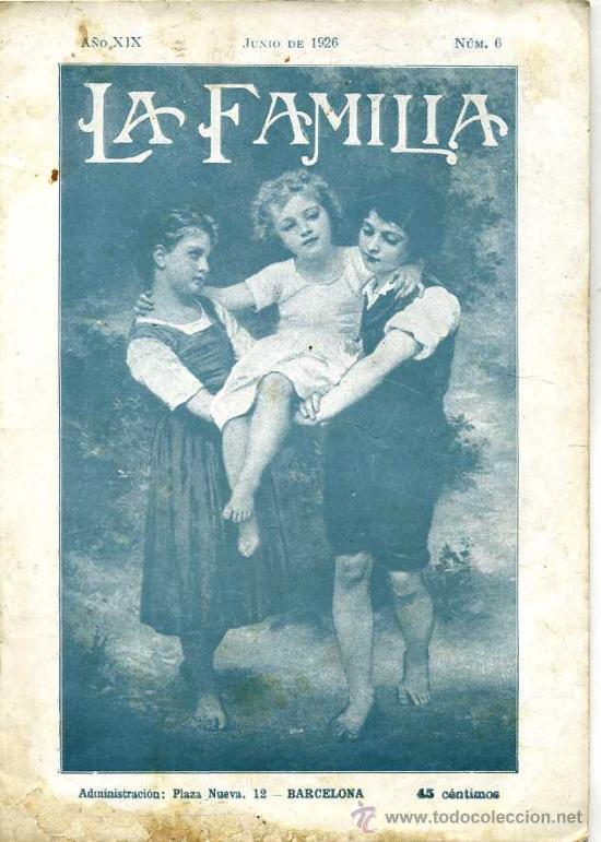 REVISTA LA FAMILIA JUNIO 1926 (Coleccionismo - Revistas y Periódicos Antiguos (hasta 1.939))
