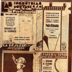 Coleccionismo de Revistas y Periódicos: SANTANDER 1932 INDUSTRIAS MONTAÑESAS HOJA REVISTA. Lote 26219284