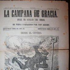 Coleccionismo de Revistas y Periódicos: LA CAMPANA DE GRACIA - ÉPOCA 3ª ANY VI BATALLADA 273 - 18-07-1875. Lote 26284614