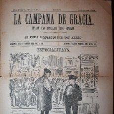 Coleccionismo de Revistas y Periódicos: LA CAMPANA DE GRACIA - ÉPOCA 3ª ANY VI BATALLADA 288 - 10-10-1875. Lote 26284743