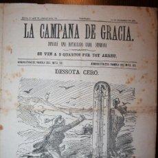 Coleccionismo de Revistas y Periódicos: LA CAMPANA DE GRACIA - ÉPOCA 3ª ANY VI BATALLADA 300 - 19-12-1875. Lote 26284827