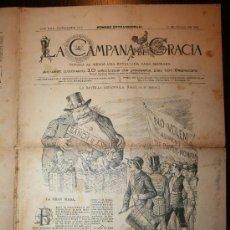 Coleccionismo de Revistas y Periódicos: LA CAMPANA DE GRACIA - ANY XXII BATALLADA 1155 - 11-07-1891. Lote 26285058